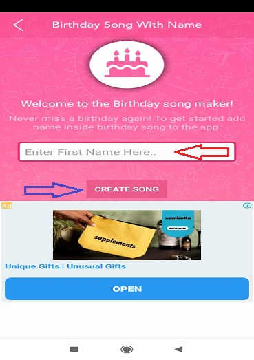 how to make happy birthday song with name in Hindi