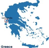 Lefkada island map