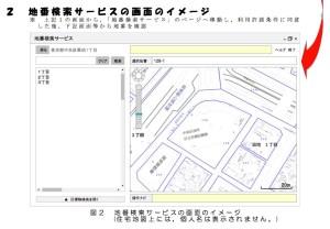 地番検索サービスのイメージ