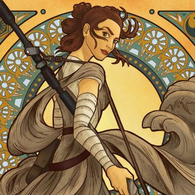 Art Nouveau Rey by Dominic On
