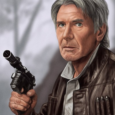 Force Awakens Character Portraits (x6) by Sam Gilbey