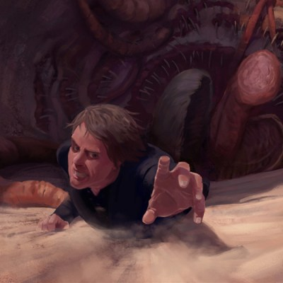 Luke & The Sarlacc by Helder Almeida