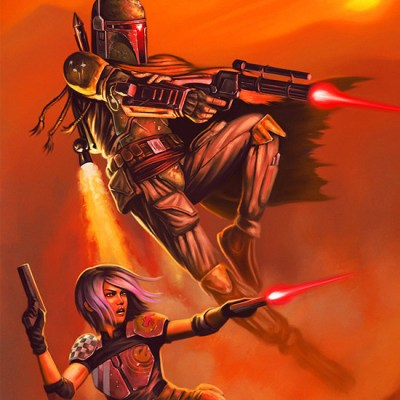 Boba Fett & Sabine Wren by Dean Spencer
