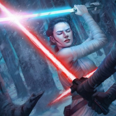 Rey vs Kylo Ren by Toni Foti