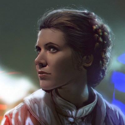 Princess Leia by Mehdi Cheggour