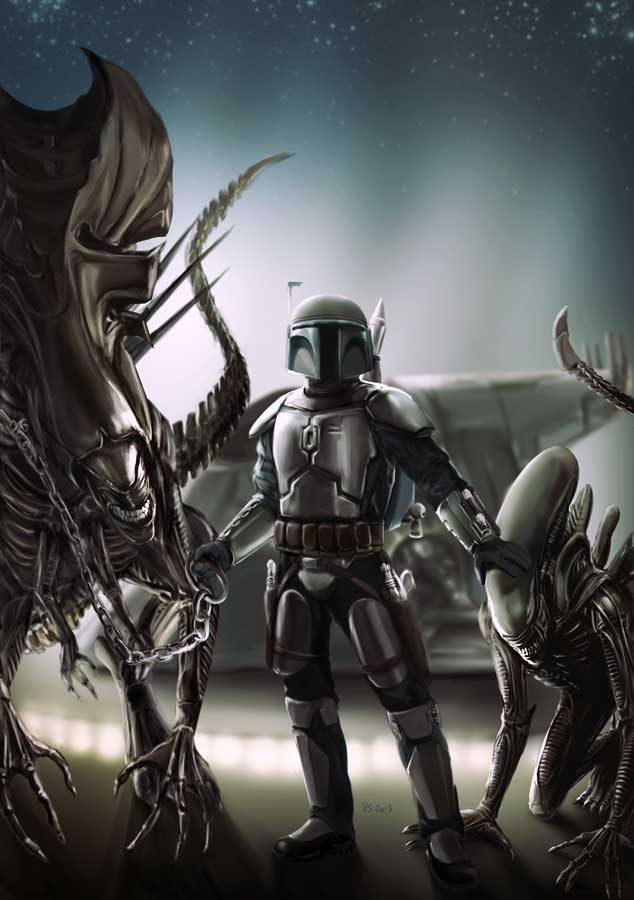 Jango Fett and his Alien Pets