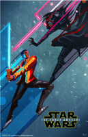 Force Awakens Posters (Finn & Kylo) by Kaz Oomori