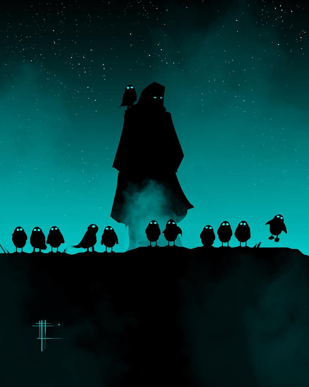 Luke & The Porgs by Eli Hyder