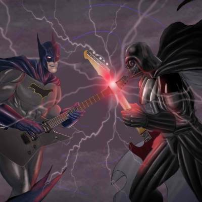 Dark Knight At The Darkside by Michael Tu