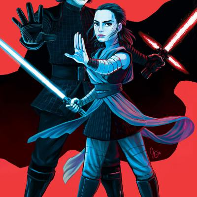 Kylo & Rey by Julie Godwin