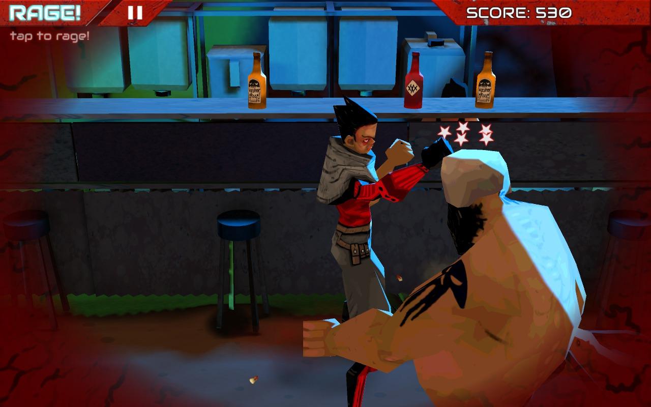 Wasteland Bar Fight: Gallia uppercuts and dizzies a Bully