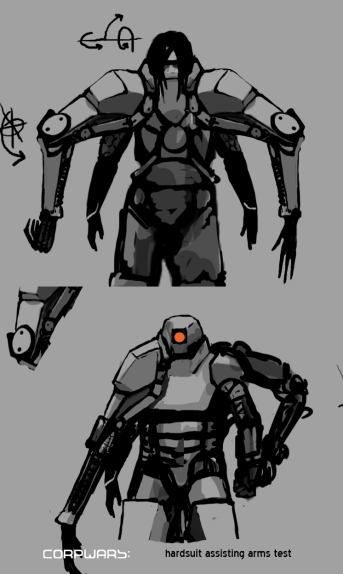 Hardsuit assisting arms test by RoboRogue