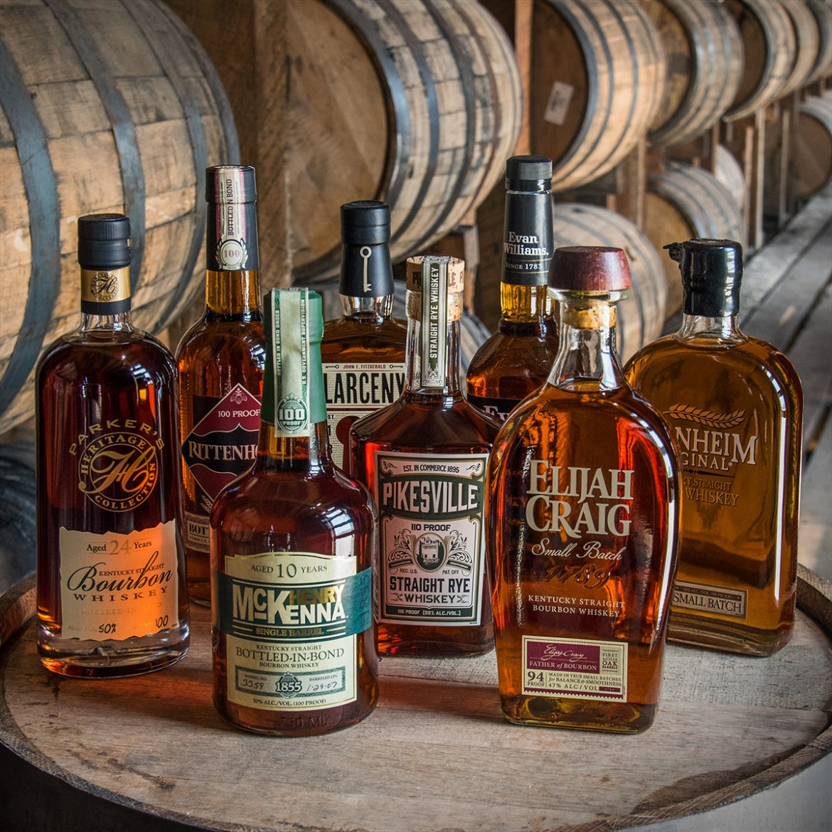 Heaven Hill product bottles