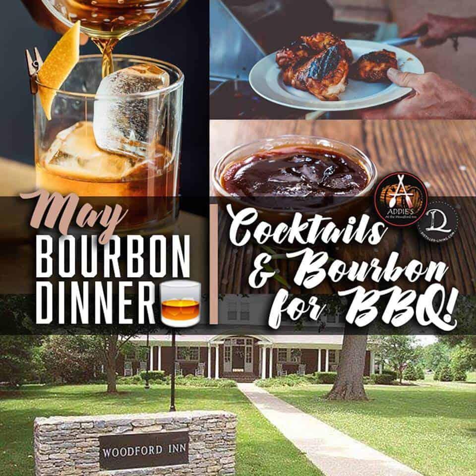 Addies bbn dinner - Cocktails & Bourbon for BBQ! May Bourbon Dinner at Addie's