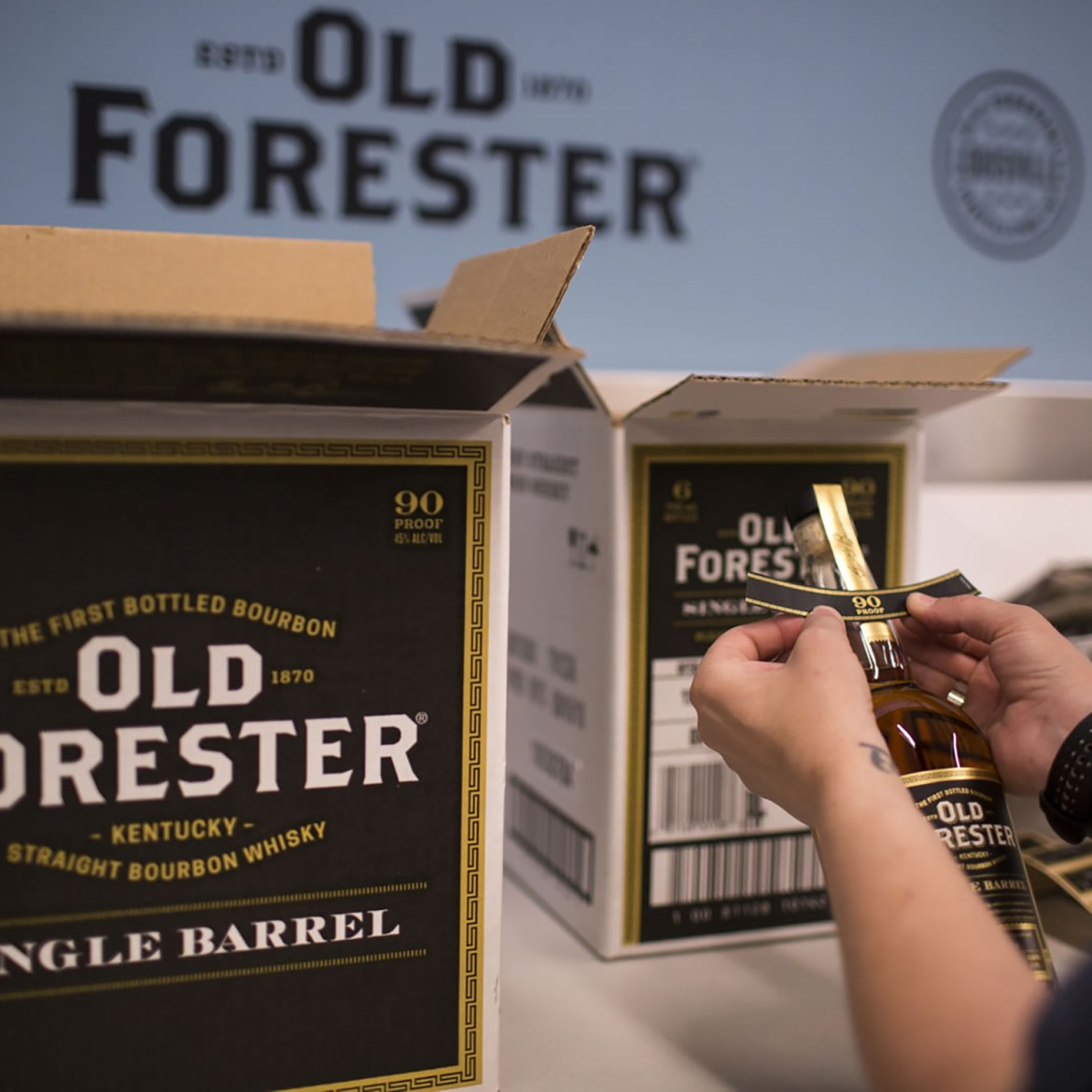 OFD bottling single barrel Square - Old Forester
