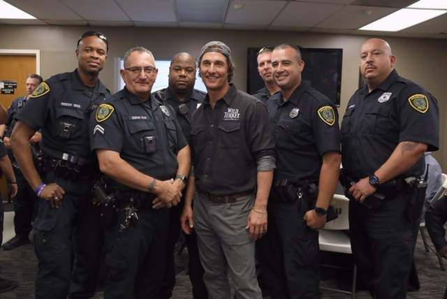 MM Officers - WILD TURKEY® AND MATTHEW MCCONAUGHEY GIVE BACK TO LOCAL HOUSTON HEROES ON NATIONAL FIRST RESPONDERS DAY