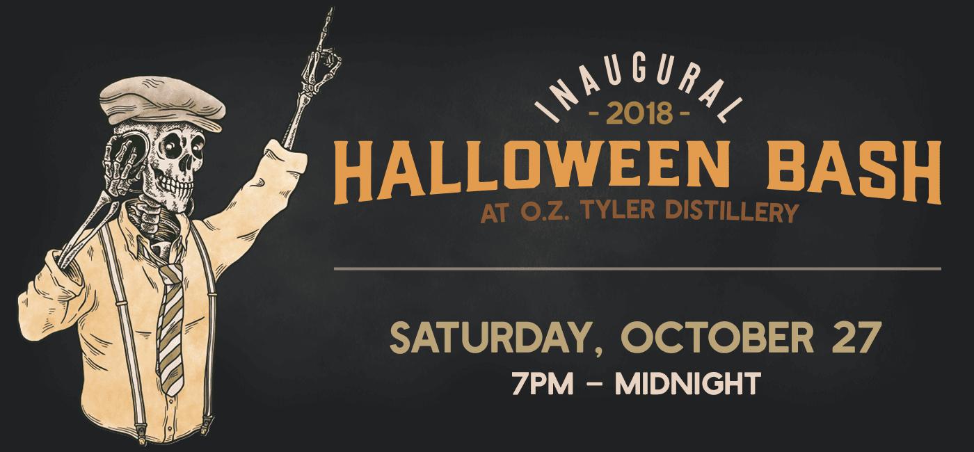 OZT Halloween Bash Web Page Graphic v5 - Halloween Bash at O.Z. Tyler Distillery