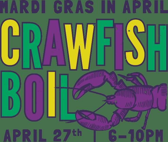 mbr mardi gras crawfish logo 2019 - MB Roland Mardi Gras in April Crawfish Boil