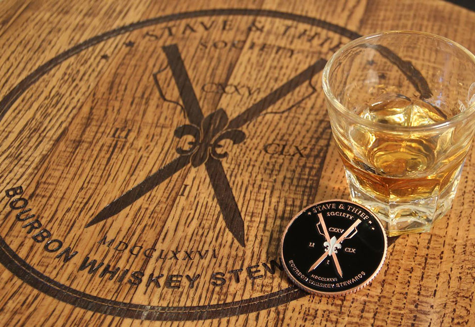 stave and thief society pin and coin - Executive Bourbon Steward Training & Certification