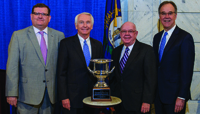 Kentucky Chamber President and CEO Dave Adkisson joined Gov. Steve Beshear, Hal Good, president of the Kentucky Association for Economic Development, and Greg Higdon, president of the Kentucky Association of Manufacturers during the news conference announcing the award.