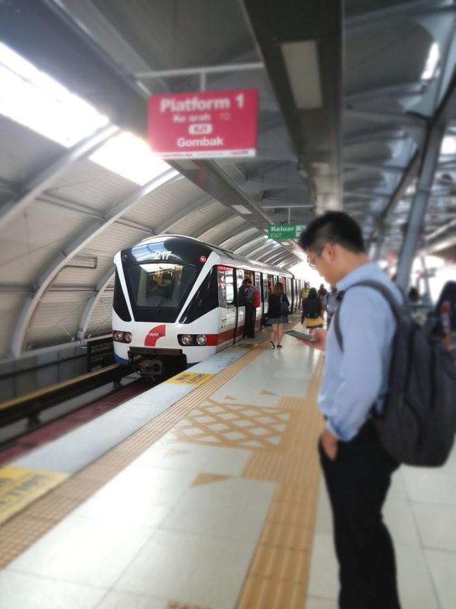 Lrt station platform train