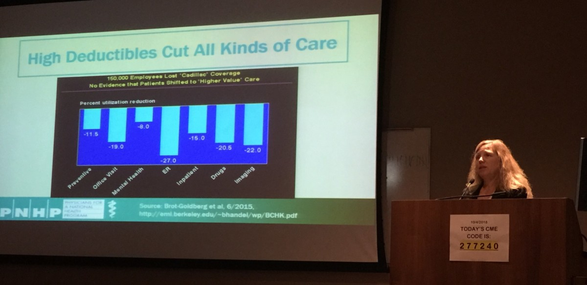 Margaret Flowers, MD, at the University of Louisville Department of Medicine Grand Rounds