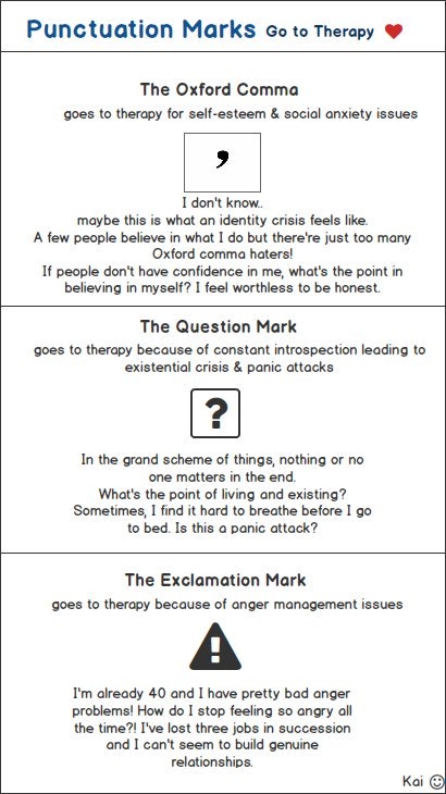 punctuation marks go to therapy wireframe