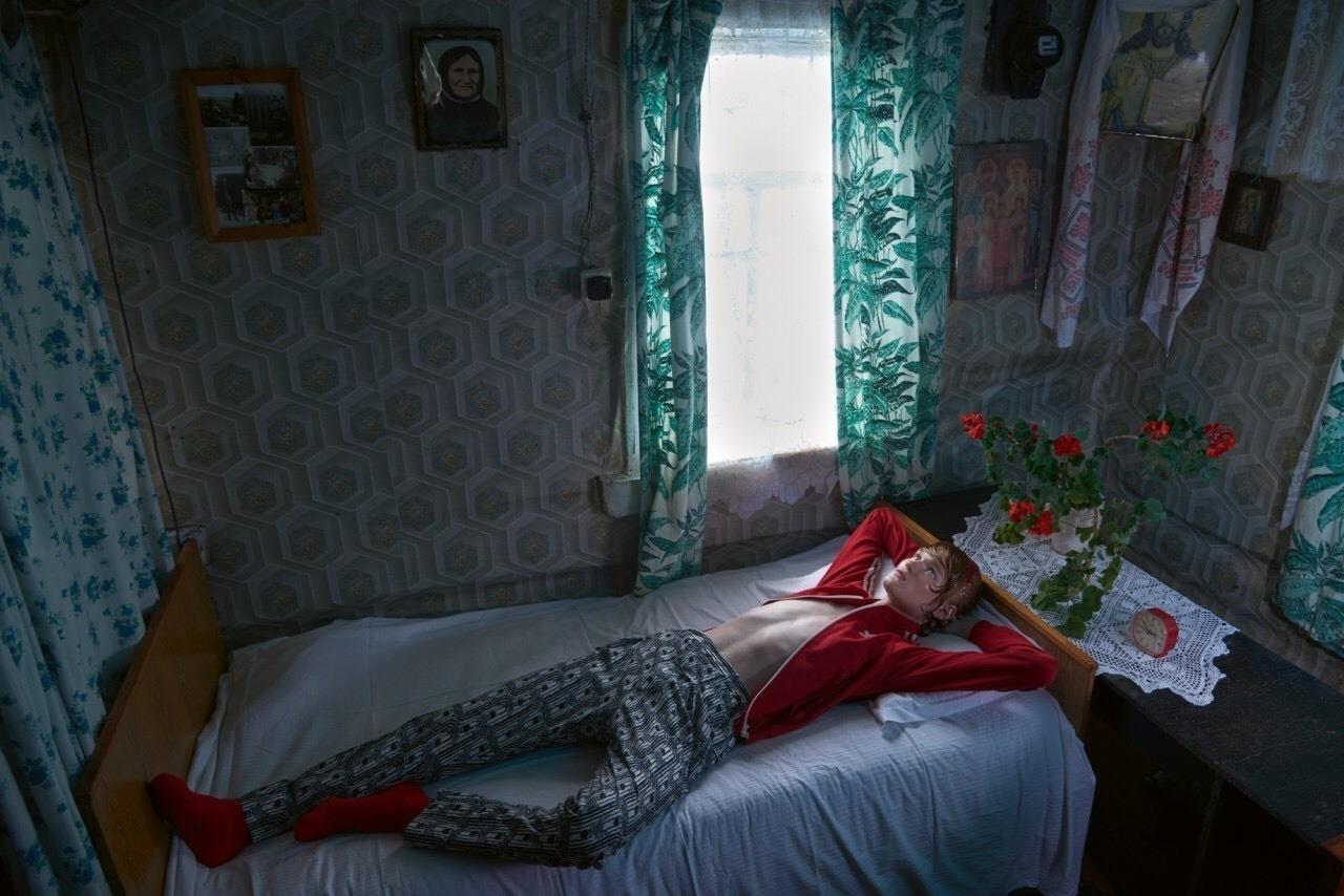 glamour biélorusse dans un village