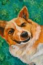 """Dog"", 2013. 12x16inches, Acrylic on canvas."