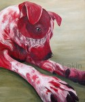 """Sawyer"" 2014, 16x20inches, acrylic on canvas."