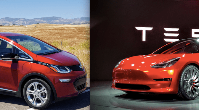 How Does The Chevy Bolt Compare To The Tesla Model 3?