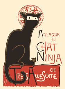Le Chat Noir - a French Vintage Poster Spoof
