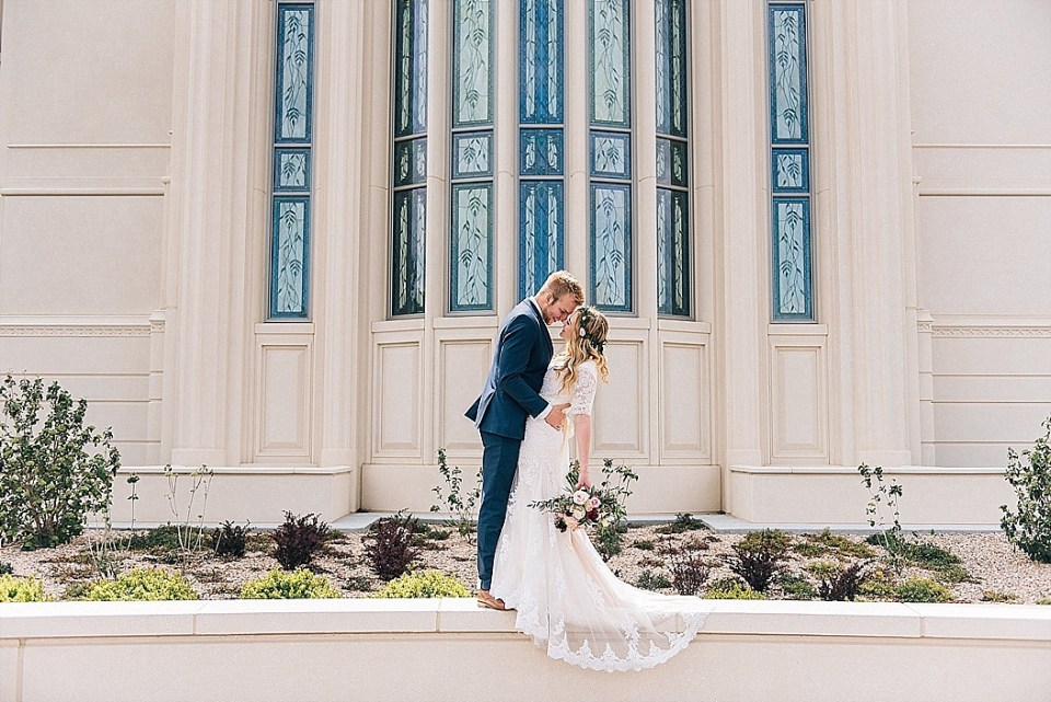 Hannah and Jordan | Clarion Gardens Wedding Reception | Payson Temple Wedding Photographer