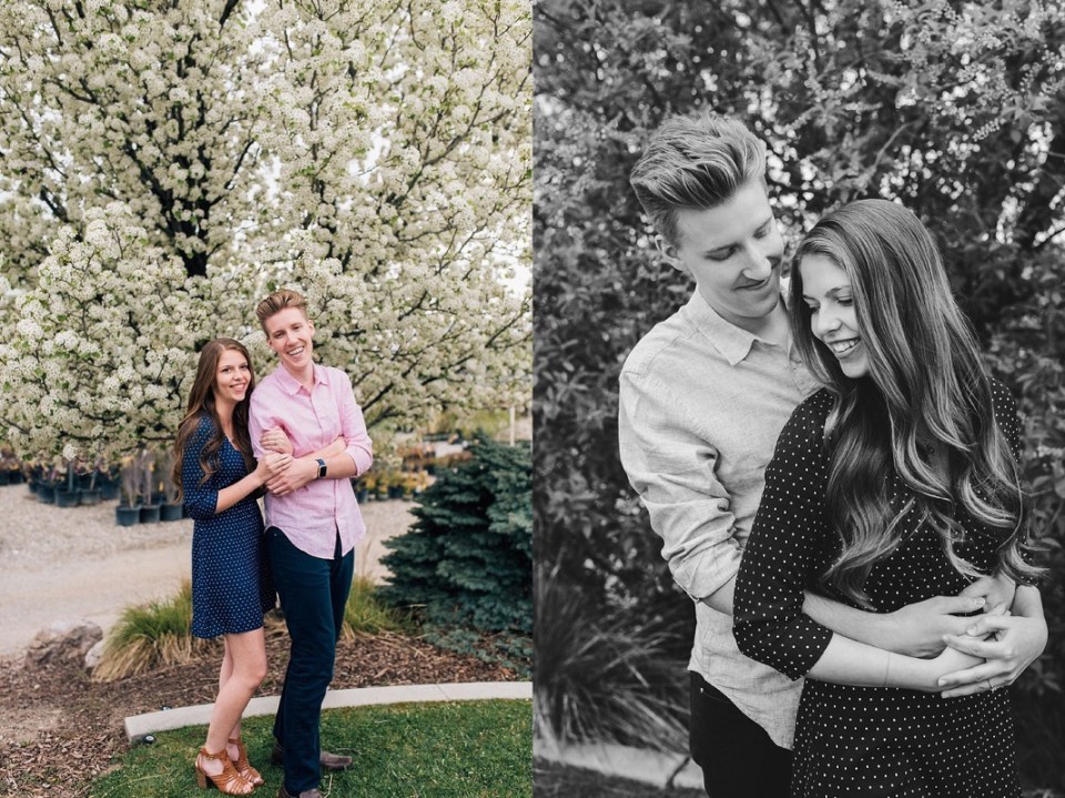 Greg and Candace | Springy Engagements Brigham City