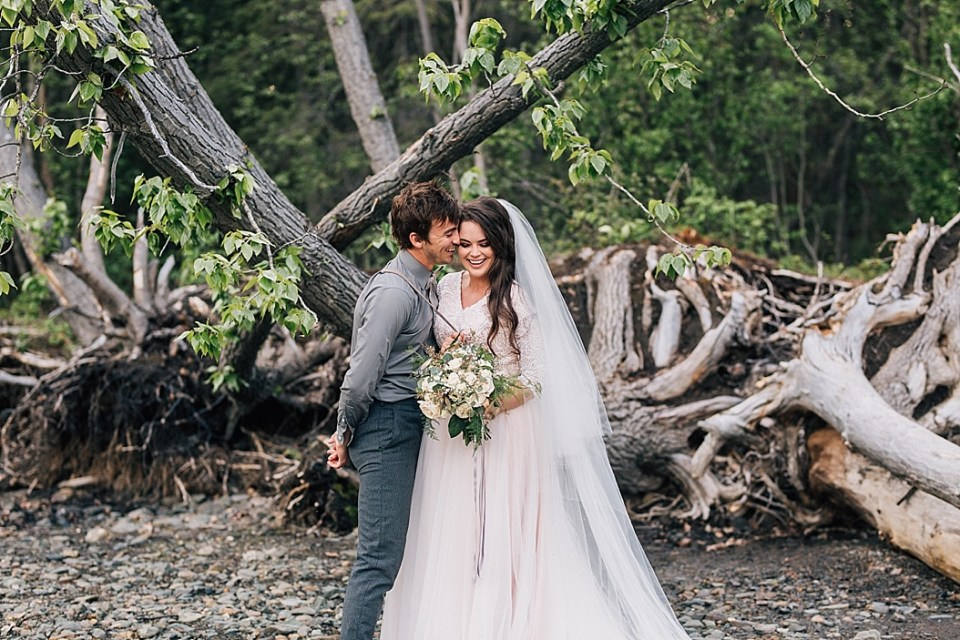 Alaska Wedding Photographer   Engagements by the Lake   Styled by Eighth Main