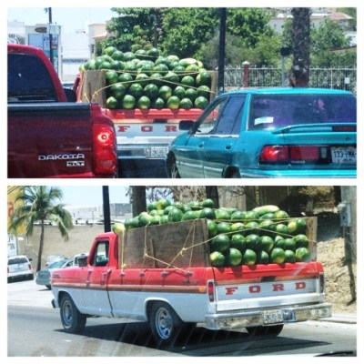 Indeed. That's a truck full of watermelon.