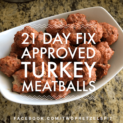 21 Day Fix Approved Turkey Meatballs