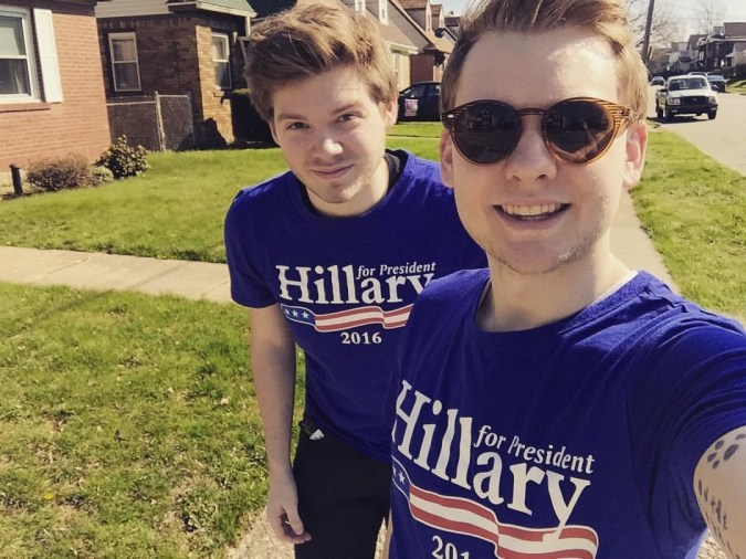 Canvassing for HRC during the Primaries, 4/16.