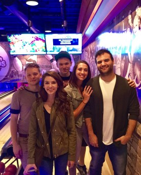 Bowling on my 22nd with Evan, Maeve, Jackie and Anthony.