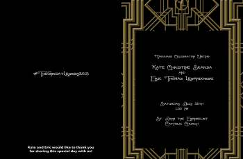 Cover of Wedding Program - Great Gatsby inspired