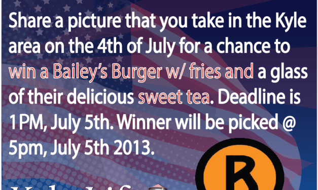 Photo Contest – Win a FREE Bailey's Burger w/ Fries & Sweet Tea