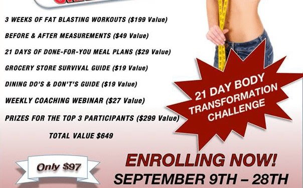21 Day Body Transformation Giveaway from Elite BodyWorks of Kyle!