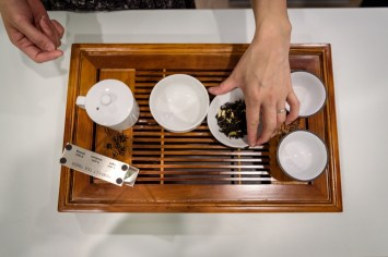 Tea being prepared at Culture Tea, the first tearoom of its kind in Wilton. Opened by Shu-Chuan and her husband, Alexander Higle, Culture Tea offers many exotic varieties of tea and also classes for the education of such teas. August 24, 2016.