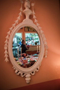 A mirror mimics a window on the wall at The Nook in Black Rock, Conn on Sept. 23 2016.
