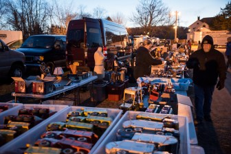 Christine and Barry Behm travelled from Long Island on Sunday night to the market as first-time vendors, having attended as buyers in previous seasons.
