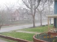 A light Indiana rain shower.