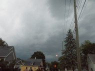 Storm clouds rolling in