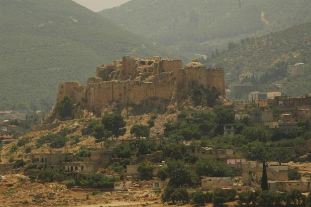 Masyaf fortress, eastern Hama, the headquarters of the Assassins (1141-1270)