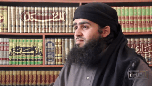 Screenshot of Mostafa Mahamed (Abu Sulayman al-Muhajir) during a video interview, 12 April 2014