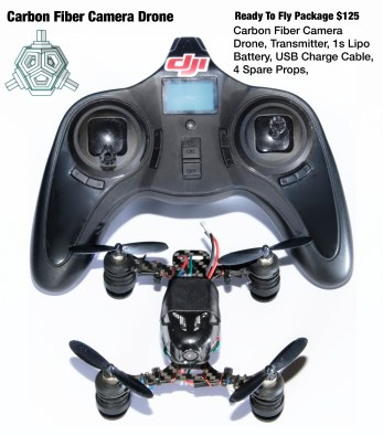 Phoenix flight gear frame and hubsan flight controller with fast 8mm motors and a hd camera